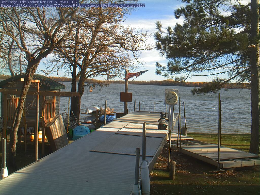 Webcam at Joe's Lodge on Lake Andrusia in Bemidji, Minnesota